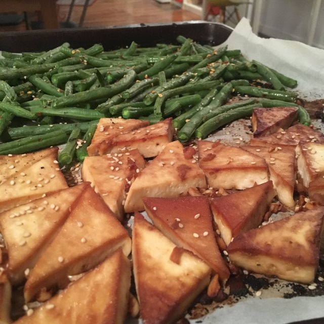 I've been refueling with massive amounts of protein. You have to try this easy sheet pan recipe.