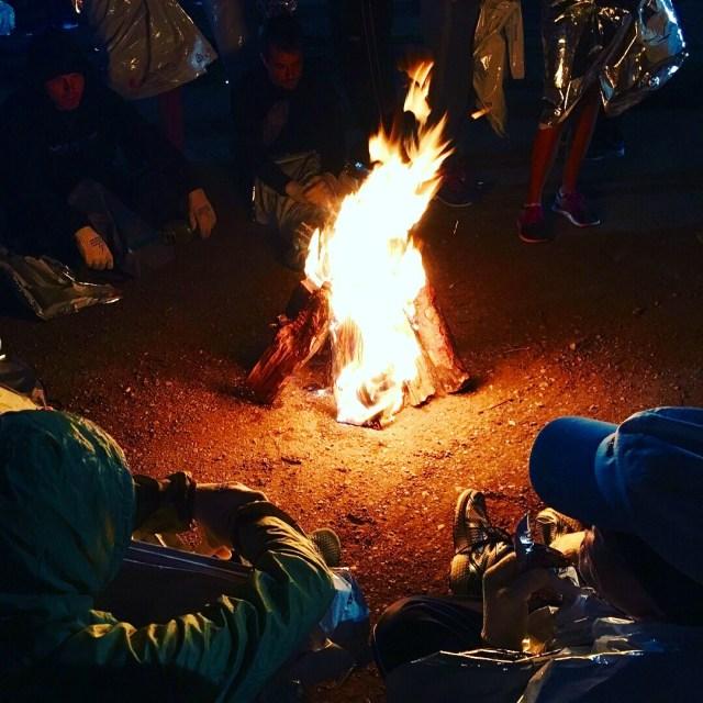 Bonfires at start St George Marathon