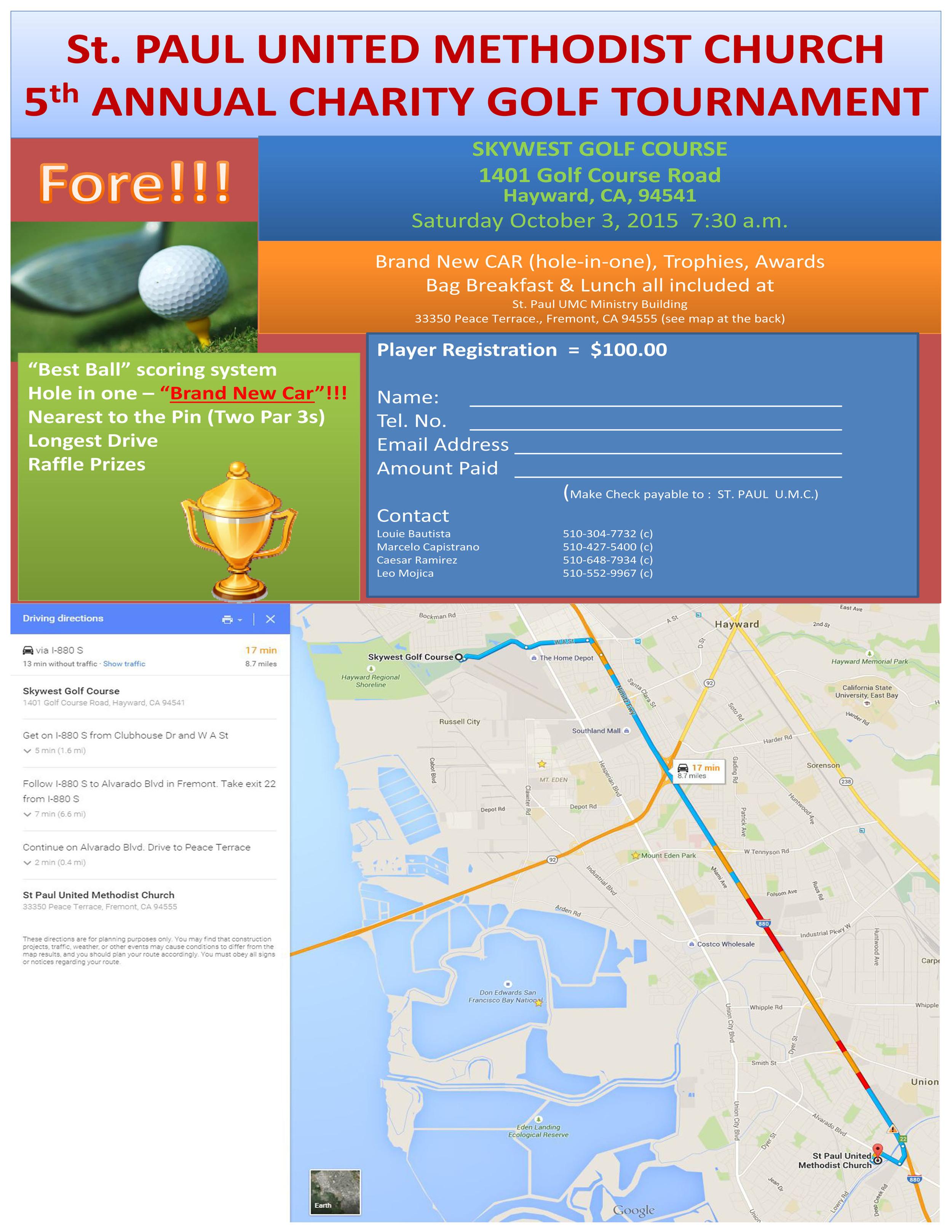 UMM Golf tourney 2015 flyer