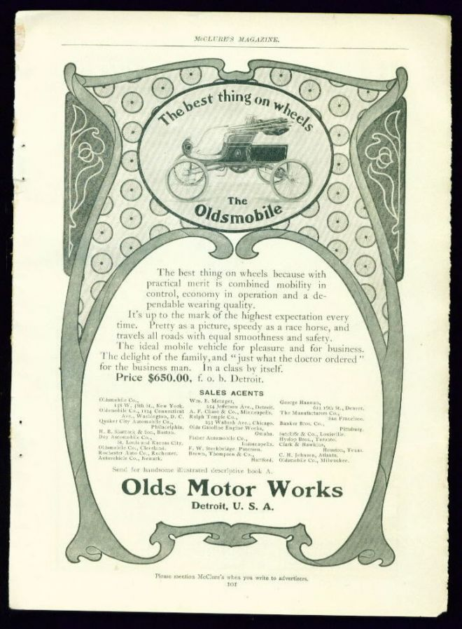 Somewhere from 1900 - 1910 -Oldsmobile