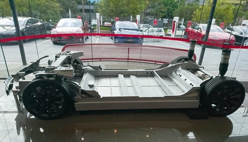 A naked Tesla