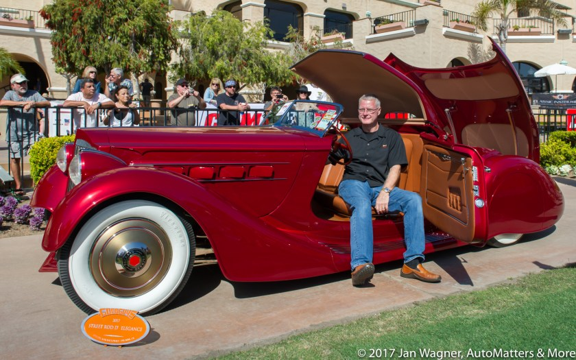 Mulholland Speedster won Street Rod d Elegance award