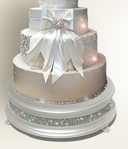 Wedding cake stands crafted in the U S A Sparkling Crystal Elegance Wedding Cake Stands from  139 00
