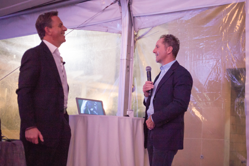 Dan Pallotta, guest speaker & Bryan de Lottinville, CEO, Benevity