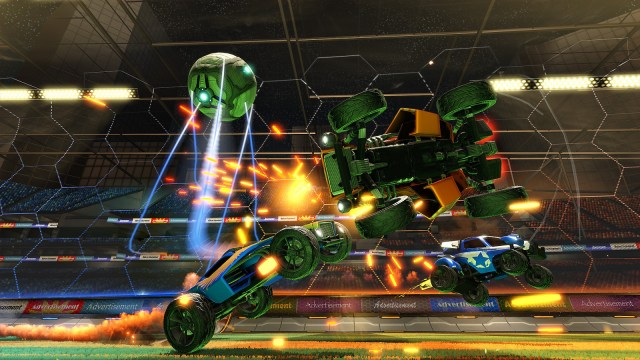 Rocket League. Imagine soccer. With cars.
