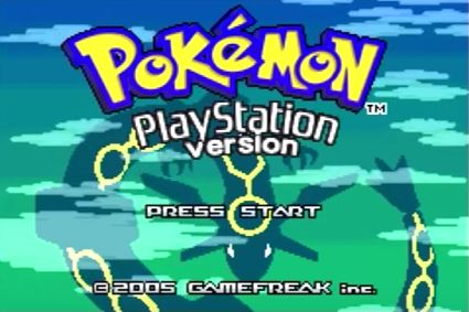 Pokemon Playstation Version appears to be a modded version of Pokemon Emerald.
