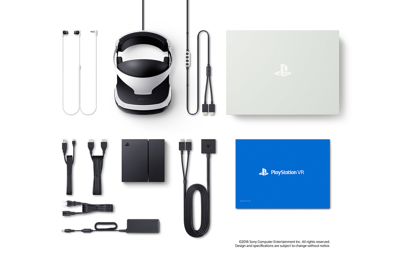 Playstation VR box contents