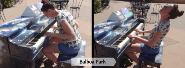 A piano outside?? I couldn't decide between the