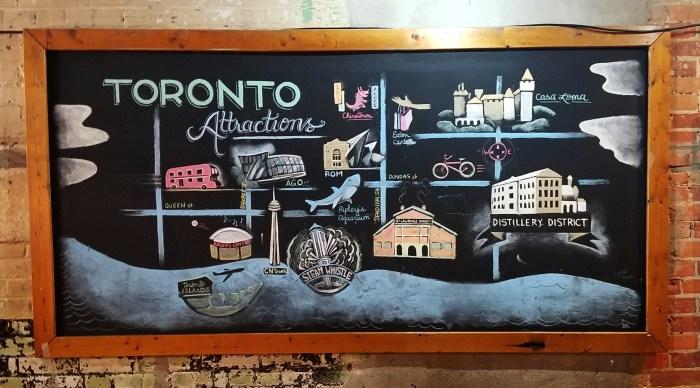 Cool/functional wall art @ HI Toronto