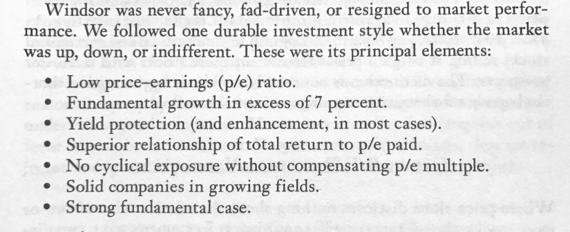 Source: John Neff on Investing. 1999. John Wiley & Sons Inc..