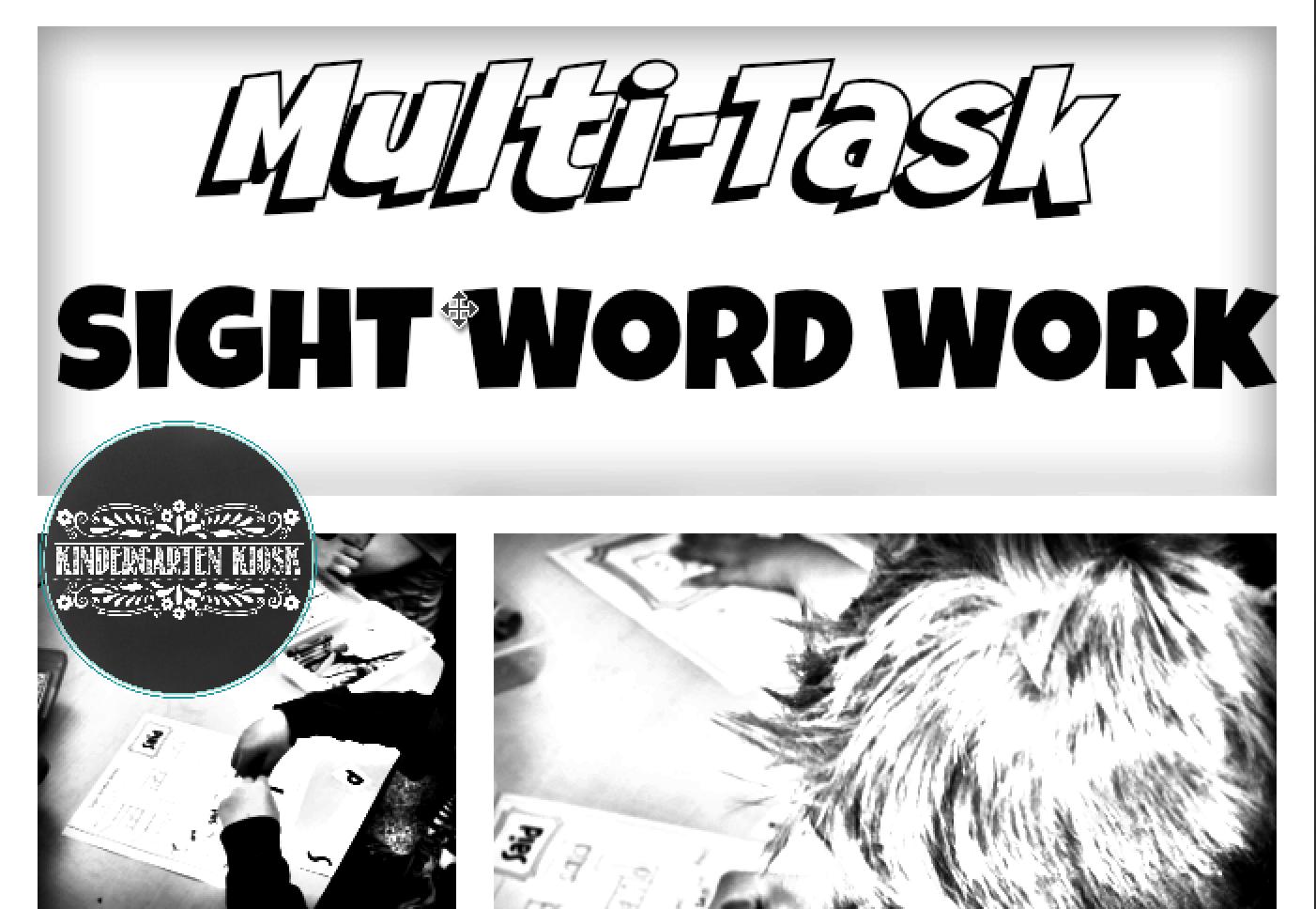 Sight Word No Prep Multi Task Worksheets