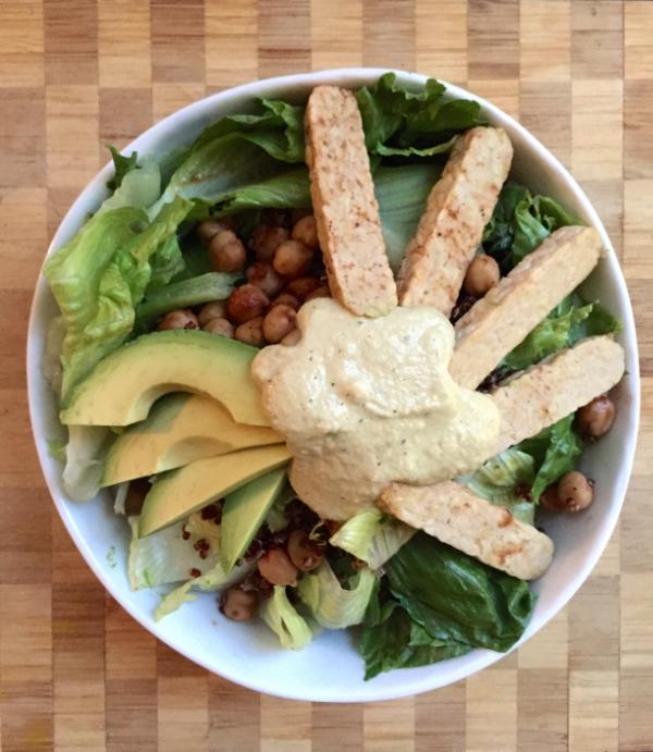 barbeque caesar salad