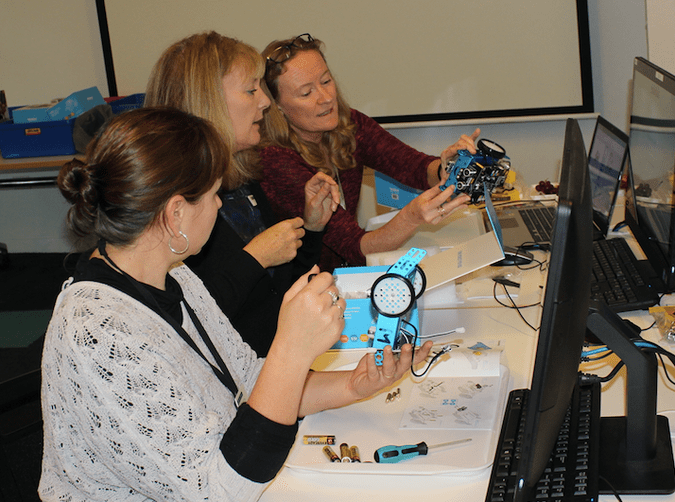 Robotics Professional Development (PD) workshops with Noosa Library last year (2016)