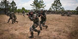 Gurkha's in training.