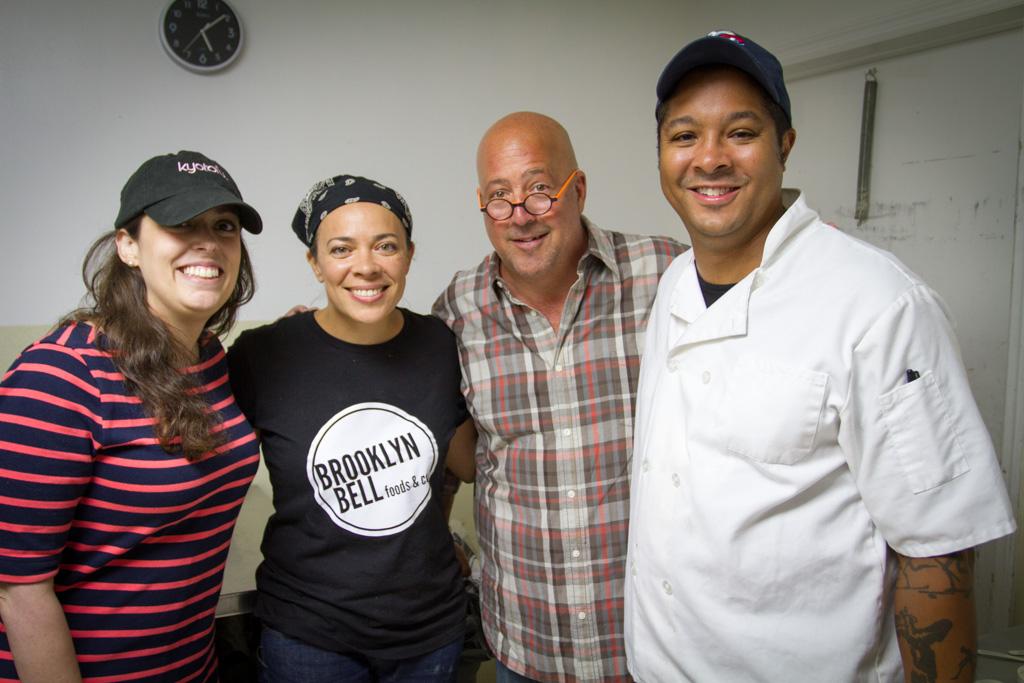 Nicole from Kyotofu, Kati, Andrew Zimmern, and Ron