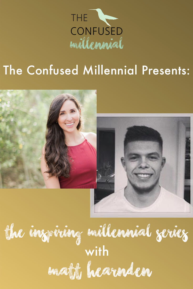 Are you struggling with jealousy or comparing yourself to others on-line? We chat with published Author Matt Hearnden about what its like to find your purpose and exercise your mindset muscle in your twenties. We talk about entitlement with millennials, and how to overcome it in this vlog. The Confused Millennial