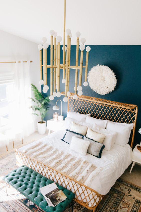 Dark Turquoise Boho Bedroom Inspiration S T U D I O G