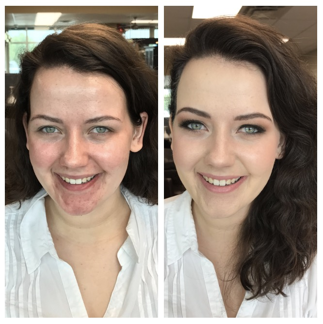 Image result for before and after airbrush makeup
