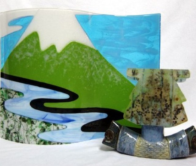 Trapped Water Will Carve A New Path Fused Glass Pate De Verre And Ceramics