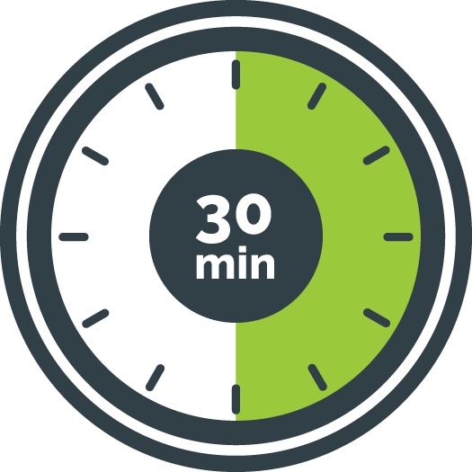 30 minute timer countdown. Black Bedroom Furniture Sets. Home Design Ideas