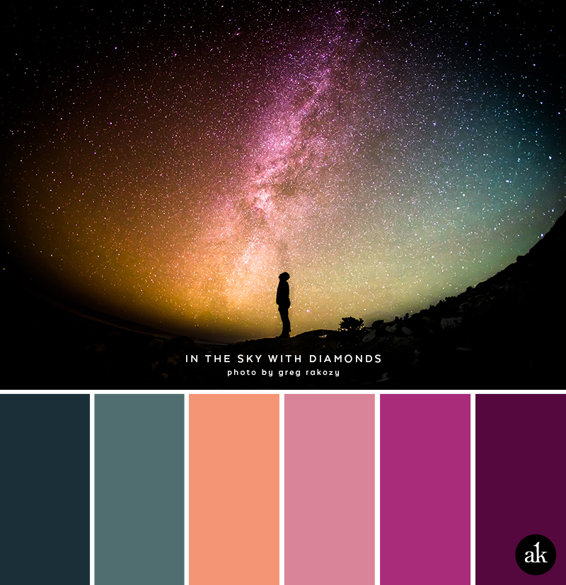 A Starry Sky Inspired Color Palette Akula Kreative