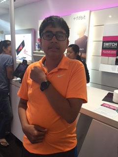 Niam with the #Samsung #S2 watch, great for wandering and other great perks