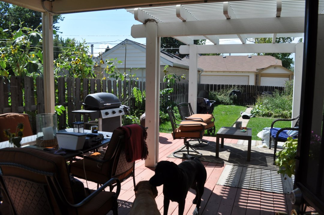 Original back deck that we replaced