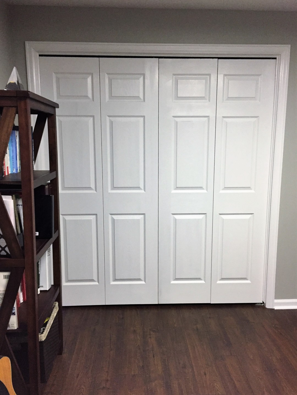 New closet doors in the office