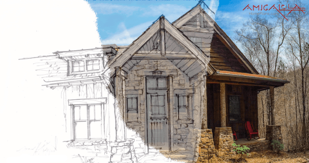 Rustic Mountain Homes   Amicalola Home Plans Concept to Reality        Amicalola Home Plans   Custom Home Designs