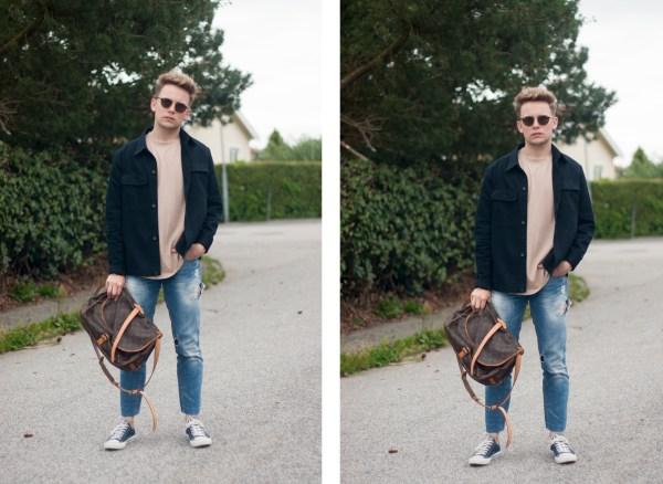 Jacka & T-shirt - H&M Trend | Jeans - Zara | Skor - Converse | Solglasögon - Ray Ban | Väska - Louis Vuitton