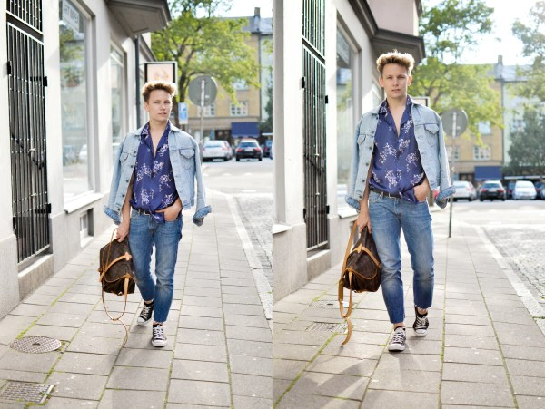 Skjorta - Zara | Jeans - Acne Studios | Väska - Louis Vuitton | Jacka - Levi´s | Skor - Converse
