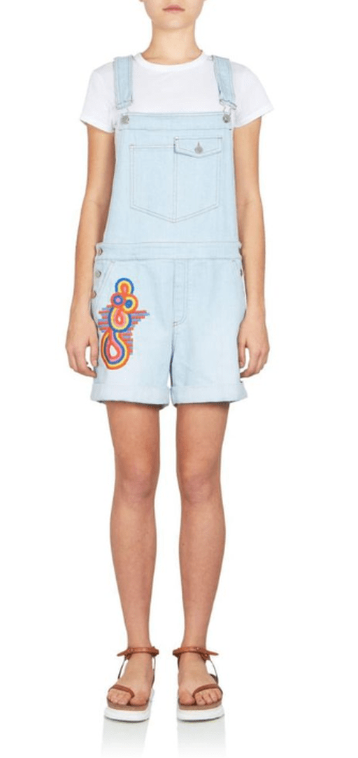 Stella McCartney Embroidered Overalls