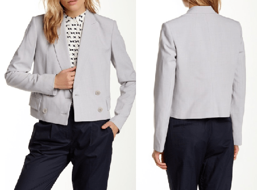 Theory  Cropped Poplin Jacket