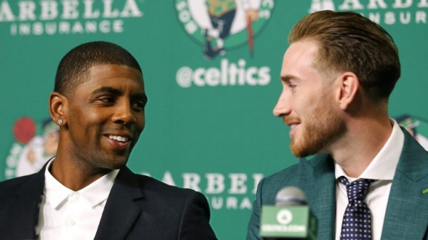 Find yourself someone who looks at you the way Kyrie and Gordon look at each other.