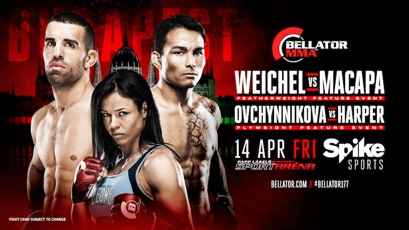 Tomorrow, Bellator 177 will take place in Budapest, Hungary.  Since the event is in Europe, Spike TV will be airing it on tape delay here in the States, starting at 9 PM ET.  The co-main event for the night's fights is Daniel Weichel (38-9) vs John Teixeira (21-1-2).
