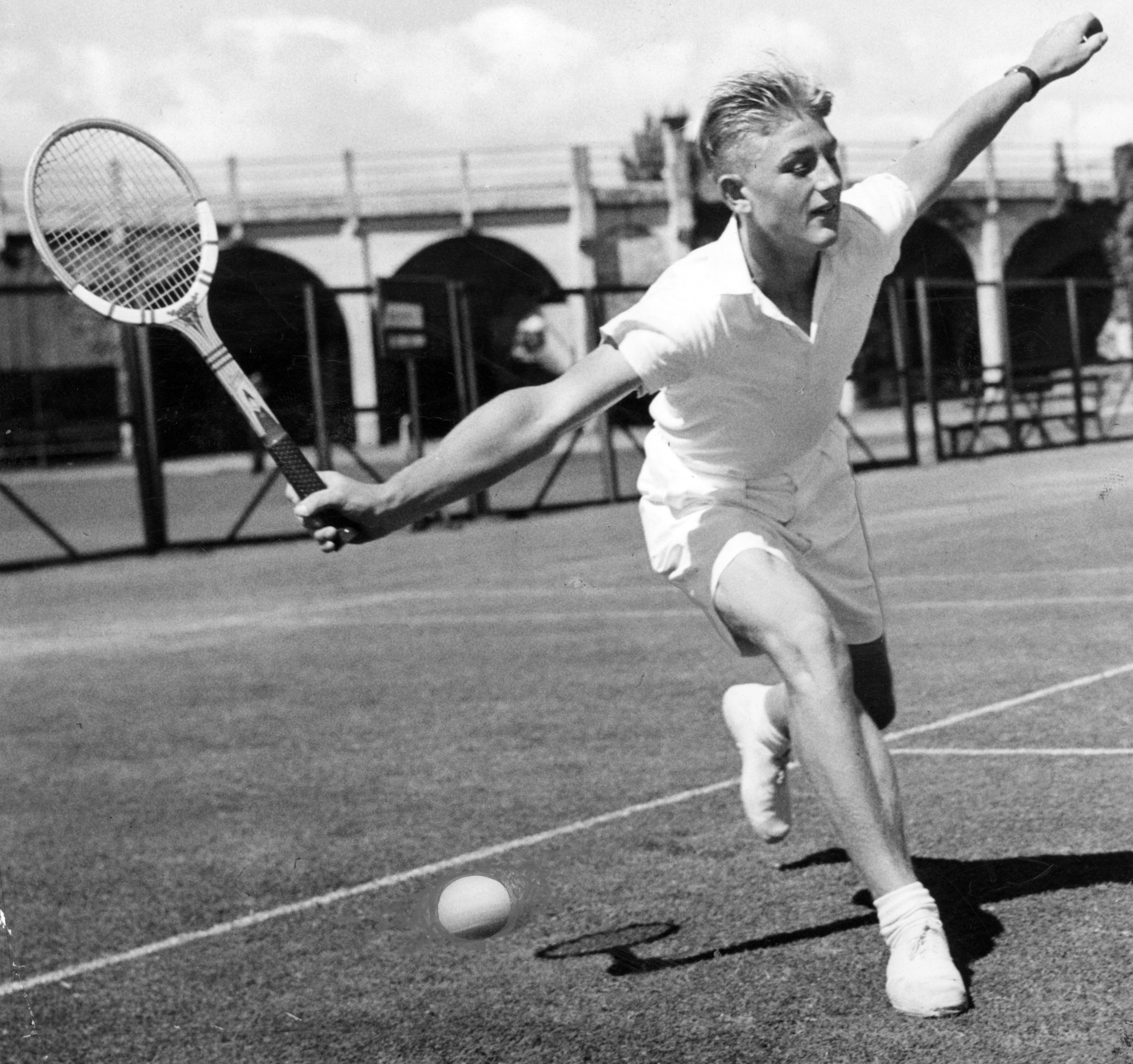 Australian tennis player Lewis Hoad
