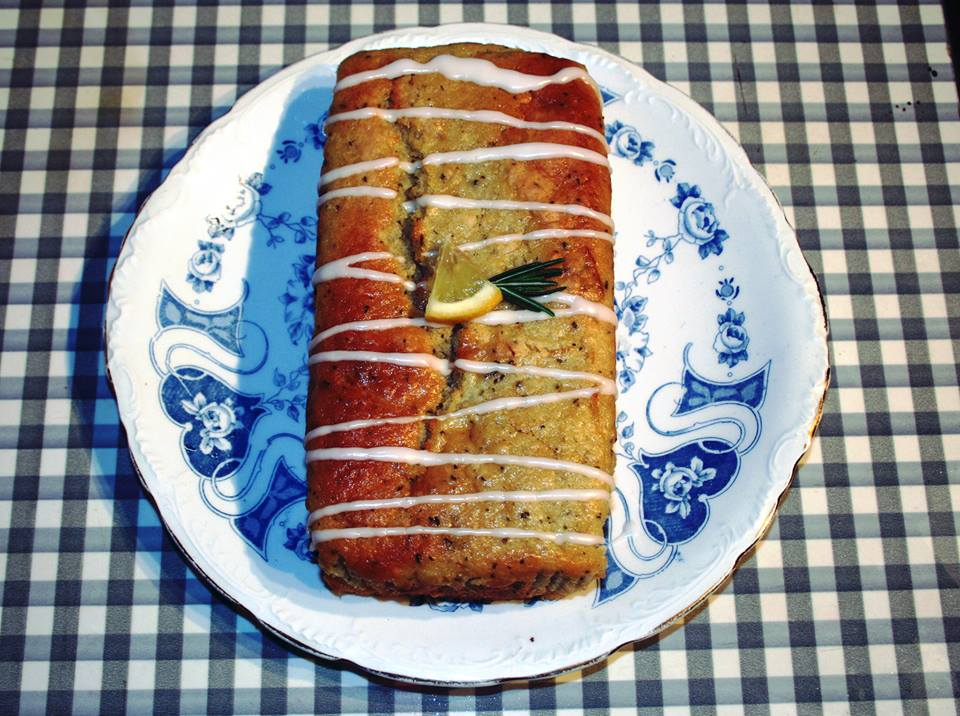 Lemon and rosemary cake loaf