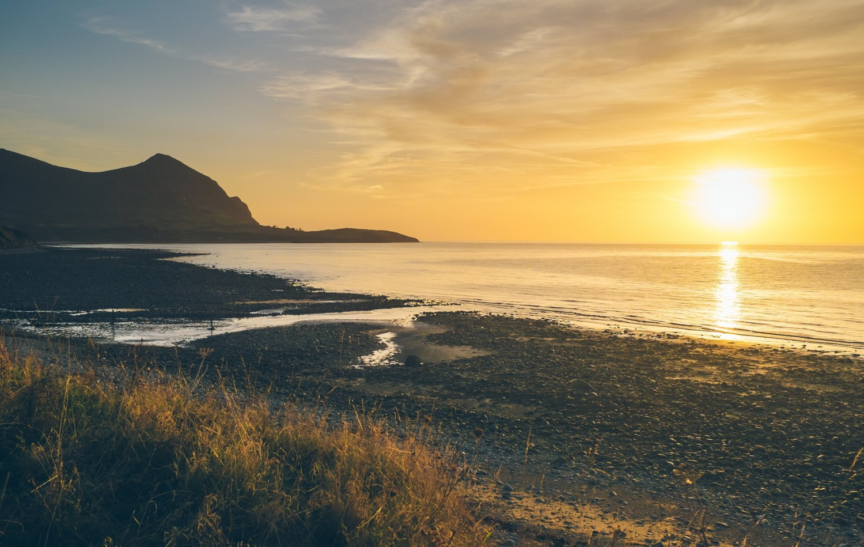 Aberafon on the Llyn Peninsula at Sunset.