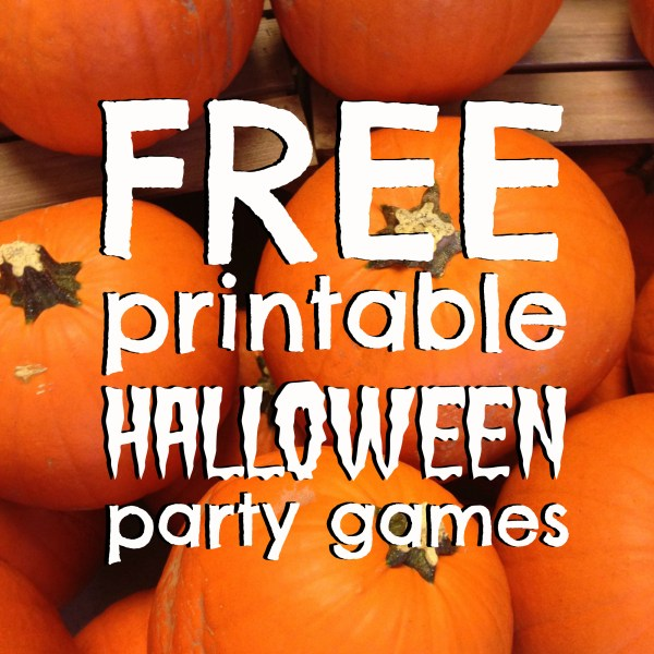 free halloween party games printables # 54