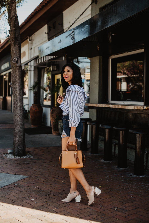 shorts for moms mom fashion how to wear denim shorts dallas blogger stephanie taylor jackson