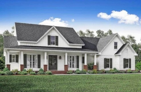 Top 10 Modern Farmhouse House Plans     La Petite Farmhouse farmhouse house design plans   architectural designs