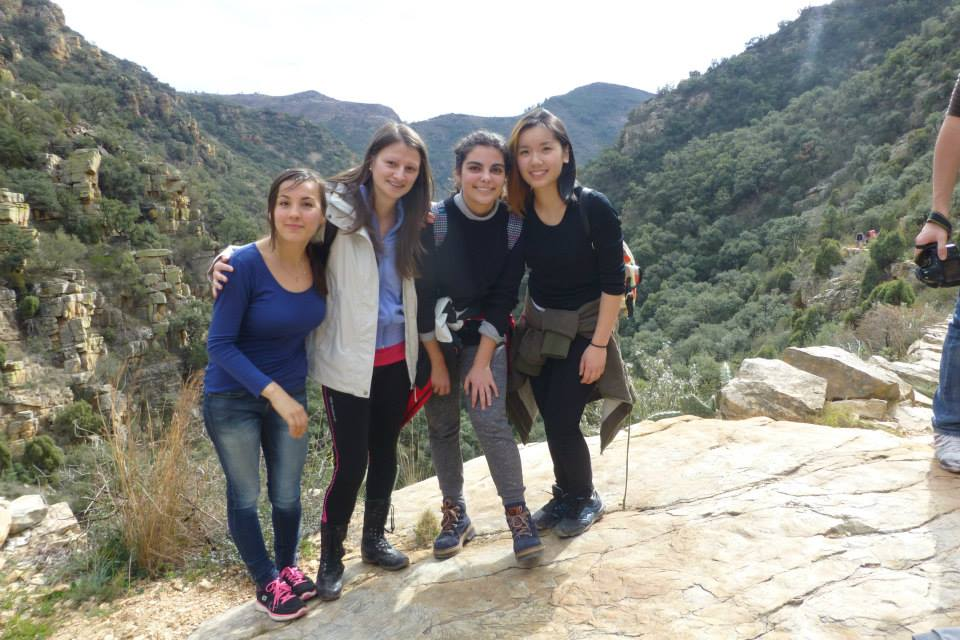 My students inside the classroom but friends outside! Good friends but we don´t see each other that often.