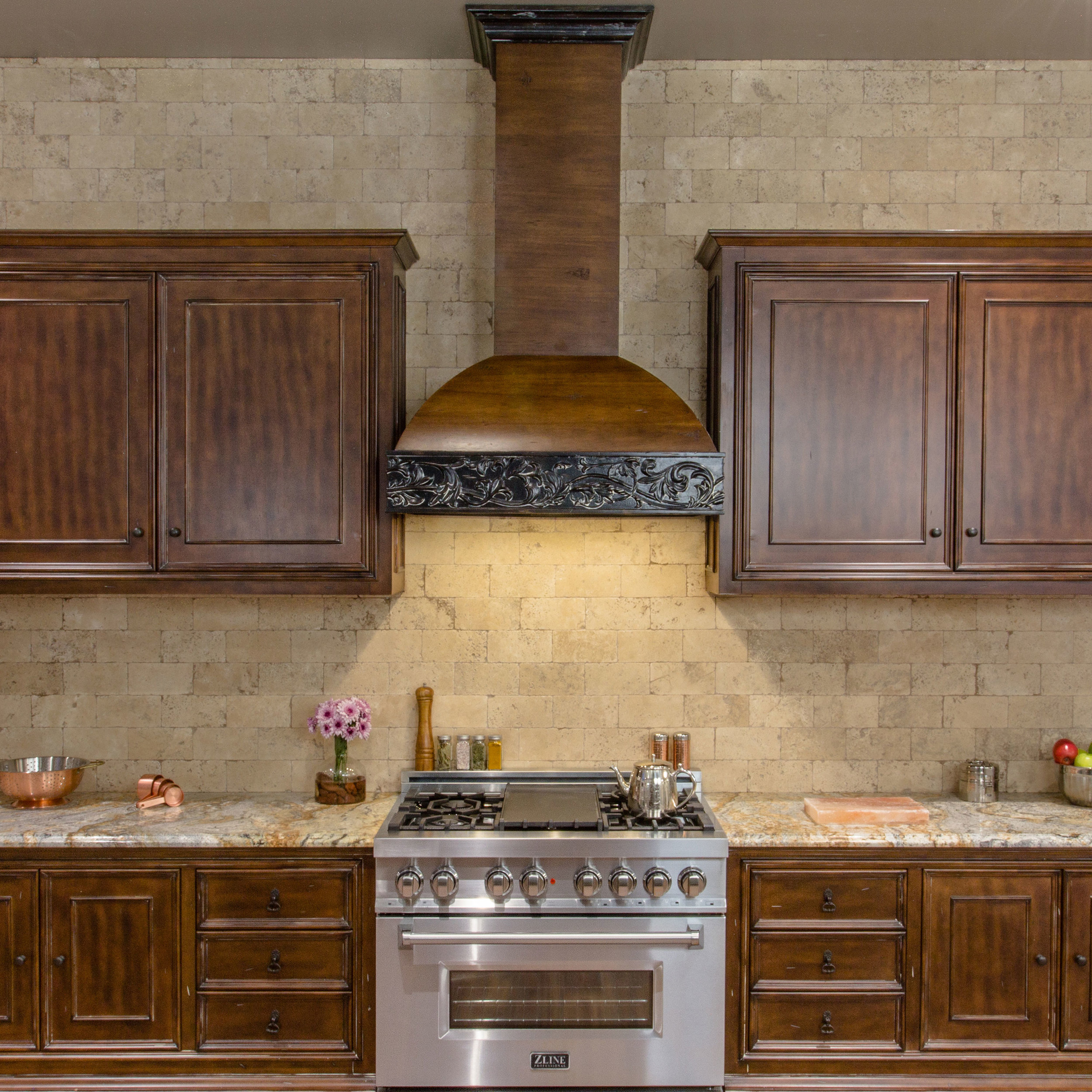Best Kitchen Gallery: Wooden Crafted 393ar Zline Kitchen of Kitchen Hood Wood on rachelxblog.com