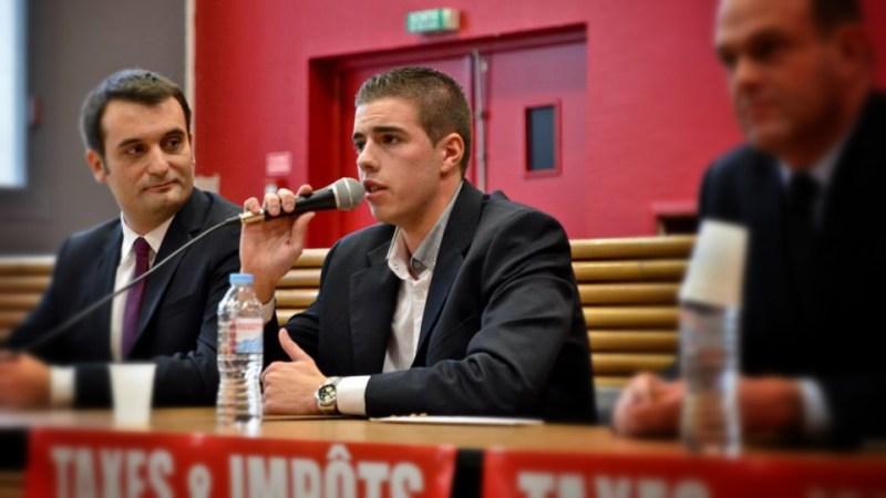 Ludovic Pajot Candidat Fn A Bethune Aux Cotes De Florian Philippot Image Fournie