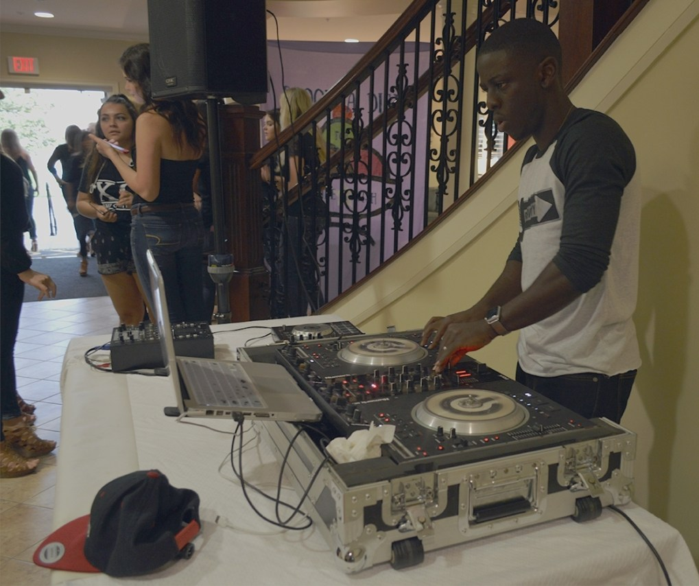 DJ Joshwayy providing music for Scoop-A-Dish for Make-A-Wish on Thursday, Sept. 15 at the Chi Omega house.