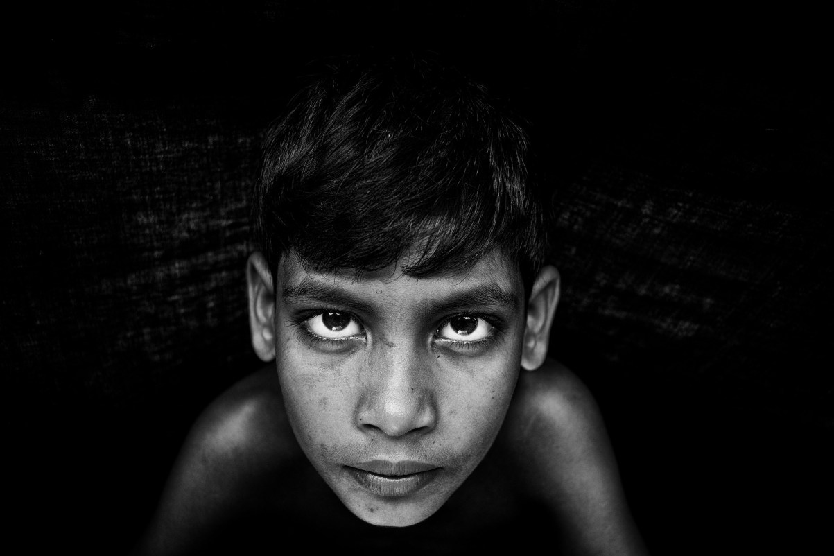 Eyes are the heart and soul of black and white portrait photography.