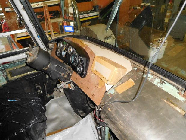 Existing Dash Structure Defrost Air Duct And Windshield Wiper Motor Were Modified To Accept The Size Of Evaporator So Now We Just Need Build