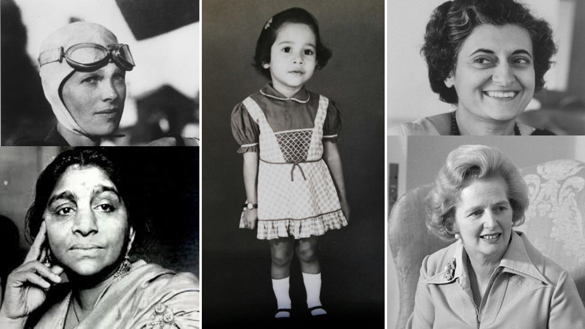 Powerful women and ... me as a girl. My father's collage inspired me.