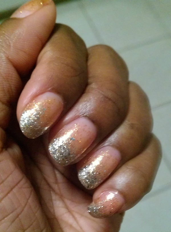 silver and gold nail challenge 4