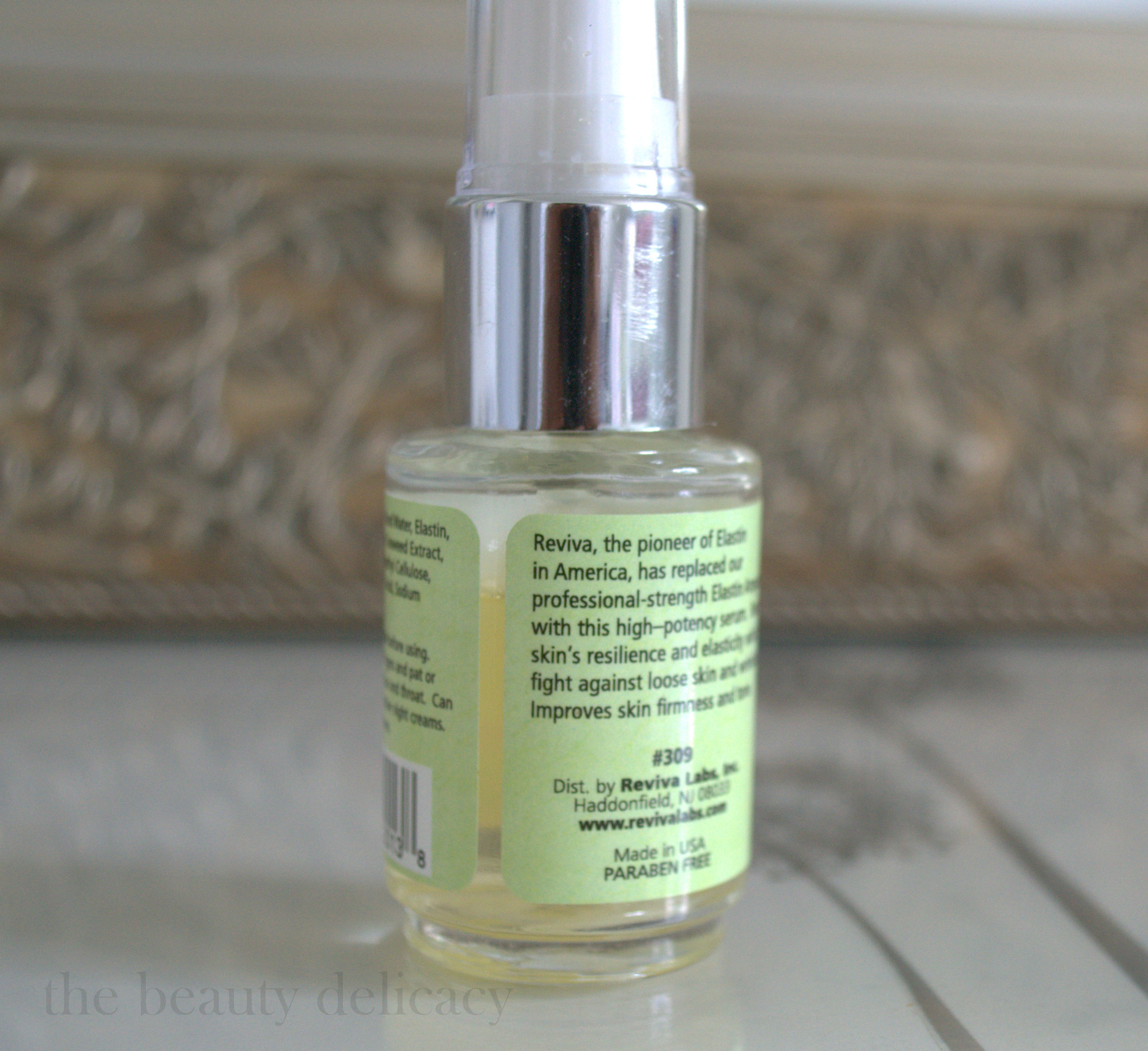 Reviva Labs Elastin Serum Label